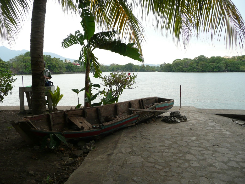 the escape boat on her island