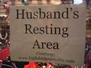 Husband's resting area