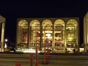 Lincoln Center during the holidays