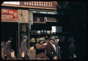 Chinese store windows, New York (1942)