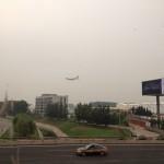 saw my flight landing