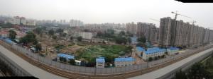 A building site ..