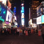 Times Sq in the evening