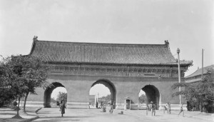 The old gates in old Beijing