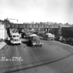 image Queens/Flushing: Lawrence Stree - now College Points Blvd and LIRR overpass on 1941.10.29